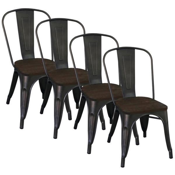 Modus Industrial style Gunmetal Dining Chair Set of 4  : Modus Gunmetal Side Chair Set of 4 698eb120 499d 4630 970d 80ccb61bfb1a600 from www.overstock.com size 600 x 600 jpeg 26kB
