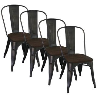 Modus Industrial-style Gunmetal Side Chair (Set of 4)