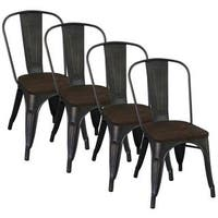 Carbon Loft Pemberton Industrial-style Gunmetal Dining Chair (Set of 4)