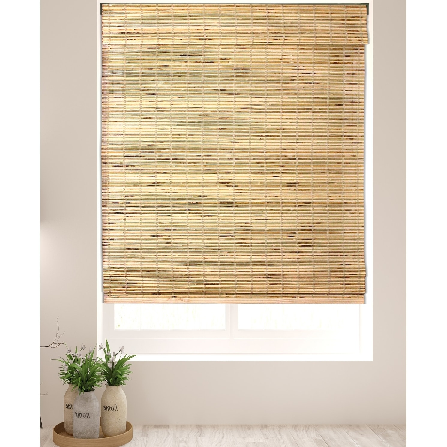 Arlo Blinds Petite Rustique Bamboo Roman Shades With 60 Inch Height On Sale Overstock 9984650