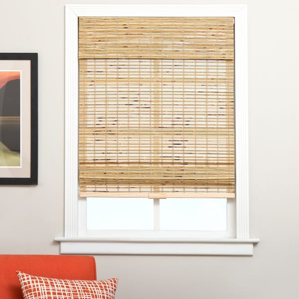 Arlo Blinds Petite Rustique Cordless Bamboo Roman Shade