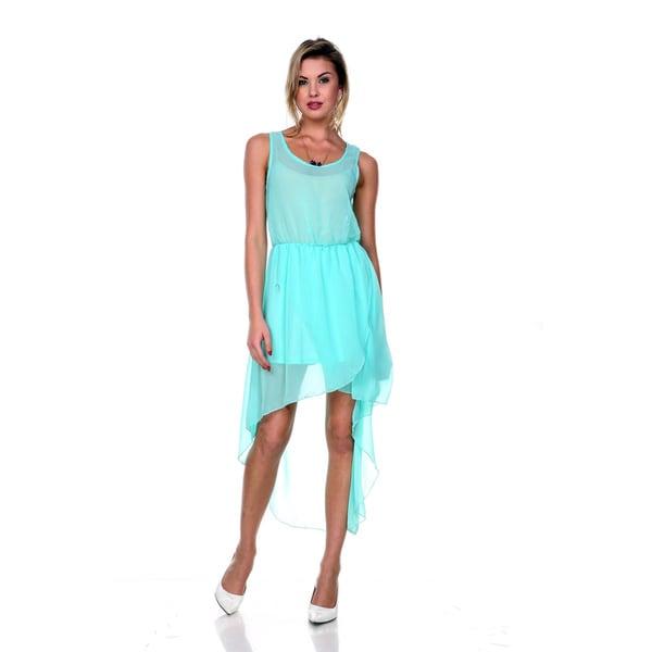 Stanzino Women's Chiffon High Low Sleeveless Dress