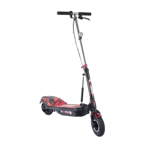 reddie black   red folding electric scooter
