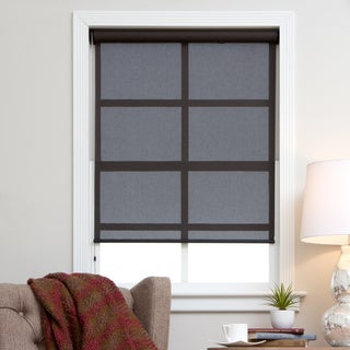 Arlo Blinds Brown/Black Polyester and PVC Continuous Chain Solar Shade (More options available)