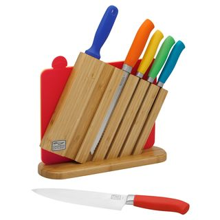 Chicago Cutlery Kinzie Color 9-piece Block Knife Set