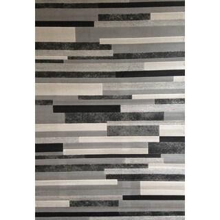 Greyson Living Burton Grey Olefin Rug (7'9 x 10'6)