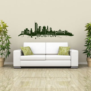 Boston Skyline Vinyl Wall Decal