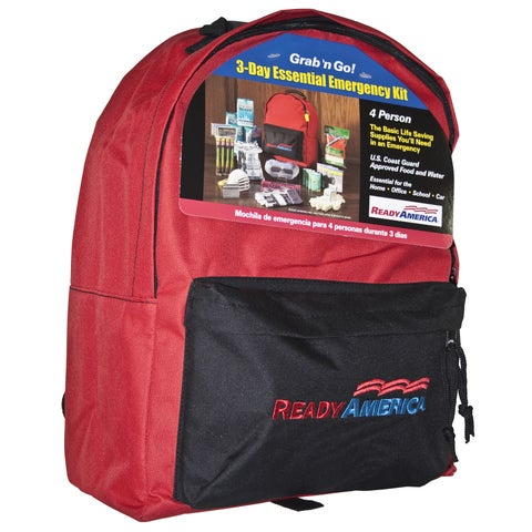 Ready America 4 Person 3 Day Emergency Backpack