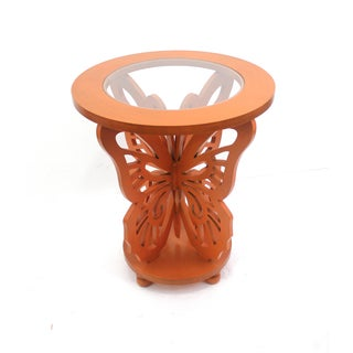 Wood Butterfly Accent Table