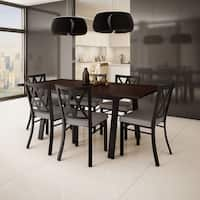 Amisco Washington Metal Chair and Drift Extendable Table Dining Set (4, 6 or 8 chairs)