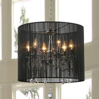 Inky 6-light Chrome Chandelier