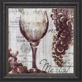 Tandi Venter-Shades of Red l 22 x 22 Framed Art Print