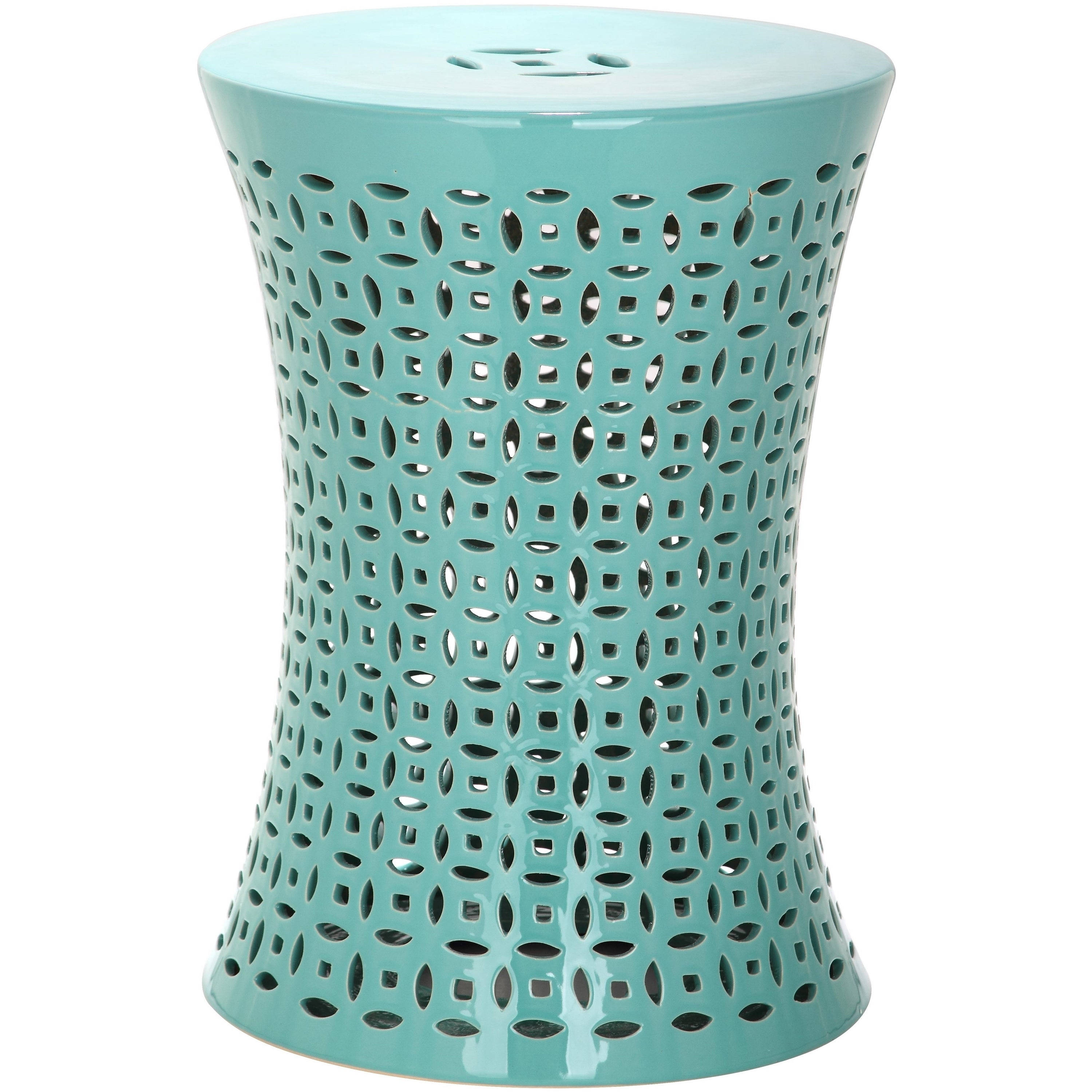 Awe Inspiring Safavieh Camilla Aqua Garden Stool 12 5 X 12 5 X 17 5 Andrewgaddart Wooden Chair Designs For Living Room Andrewgaddartcom