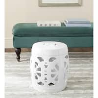 Safavieh Stencil Antique White Blossom Garden Stool