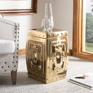 Safavieh Dynasty Plated Gold Filigree Ceramic Decorative Garden Stool