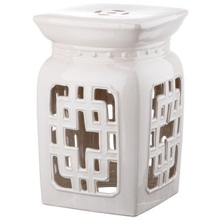 Safavieh Beijing Cream Filigree Garden Stool