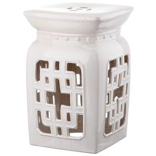 Safavieh Beijing Cream Filigree Ceramic Decorative Garden Stool