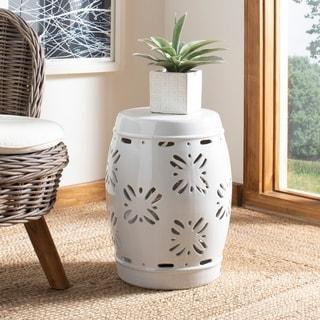 Safavieh Sakura White Ceramic Decorative Garden Stool