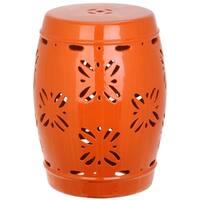 Shop Safavieh Imperial Orange Vine Garden Stool 14 Quot X 14