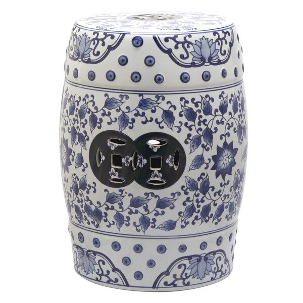 Safavieh Tao Blue And White Painting Garden Stool