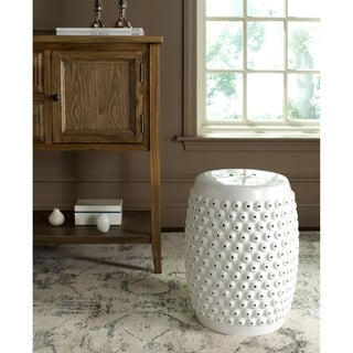 Safavieh Stella White Nail Head Stool