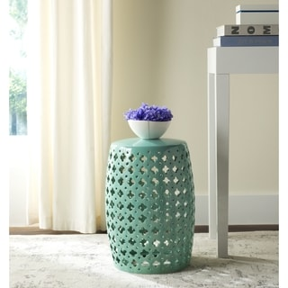 Safavieh Lacey Light Blue Garden Stool Free Shipping