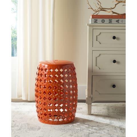 Safavieh Lacey Moroccan Orange Ceramic Decorative Garden Stool