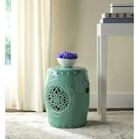 Safavieh Flower Aqua Drum Garden Stool