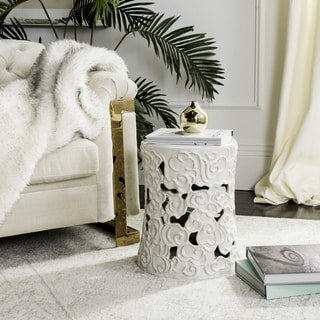 Safavieh White Cloud Garden Stool