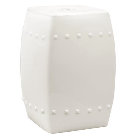 Safavieh Villa Cream Ceramic Decorative Garden Stool