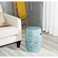Safavieh Flora Light Blue Garden Stool