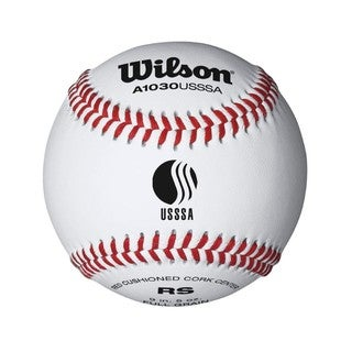 Wilson USSSA Raised Seam Baseball, 12 Pack