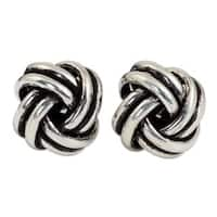 Handmade Sterling Silver 'Double Love Knot' Earrings (Thailand)