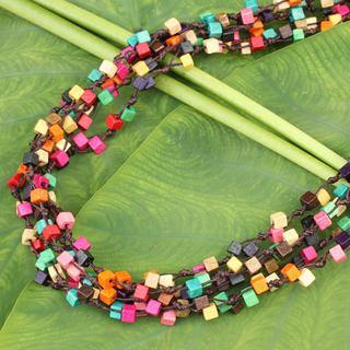 Handmade Littleleaf Boxwood Petchaburi Belle Necklace Thailand