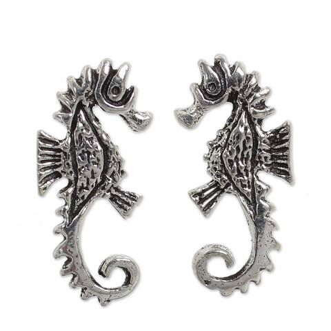 NOVICA Sterling SilverSeahorse' Earrings (Thailand)