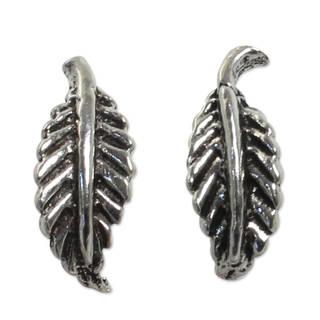 Handmade Sterling Silver 'Whispering Leaves' Earrings (Thailand)