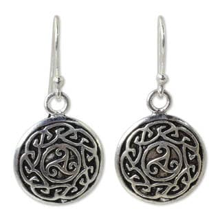 Handmade Sterling Silver 'Sister Goddess' Earrings (Thailand)