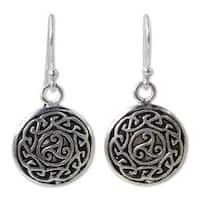 Handmade Sterling Silver 'Sister Goddess' Earrings (Thailand)