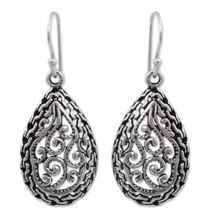Handmade Sterling Silver 'Thai Delight' Earrings (Thailand)