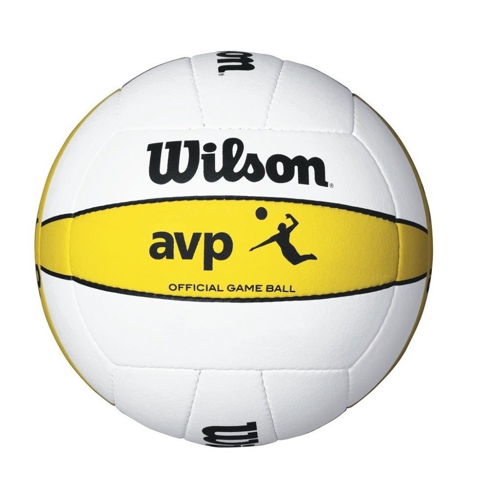 Official Wilson AVP Volleyball Game Ball (White/Yellow)