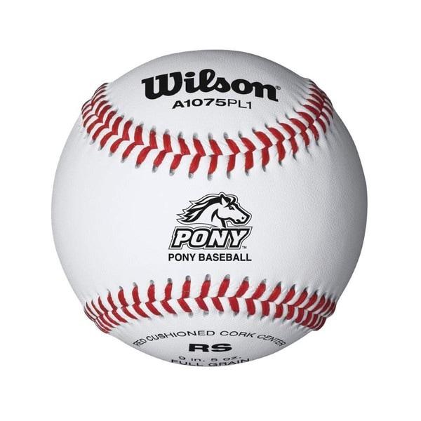 Wilson Pony League Raised Seam Baseball, 12 Pack
