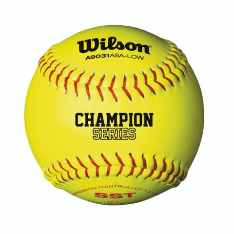 Wilson ASA Low Optic Yellow Fastpitch Softball, 12 Pack