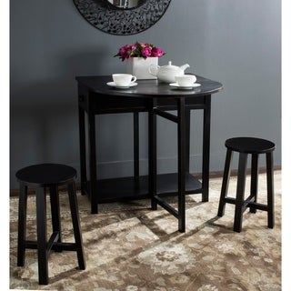 Safavieh Miles Black Bar and Two Stools