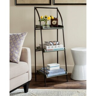 Safavieh Ella Black Iron/ Ash Grey Leaning Etagere (As Is Item)