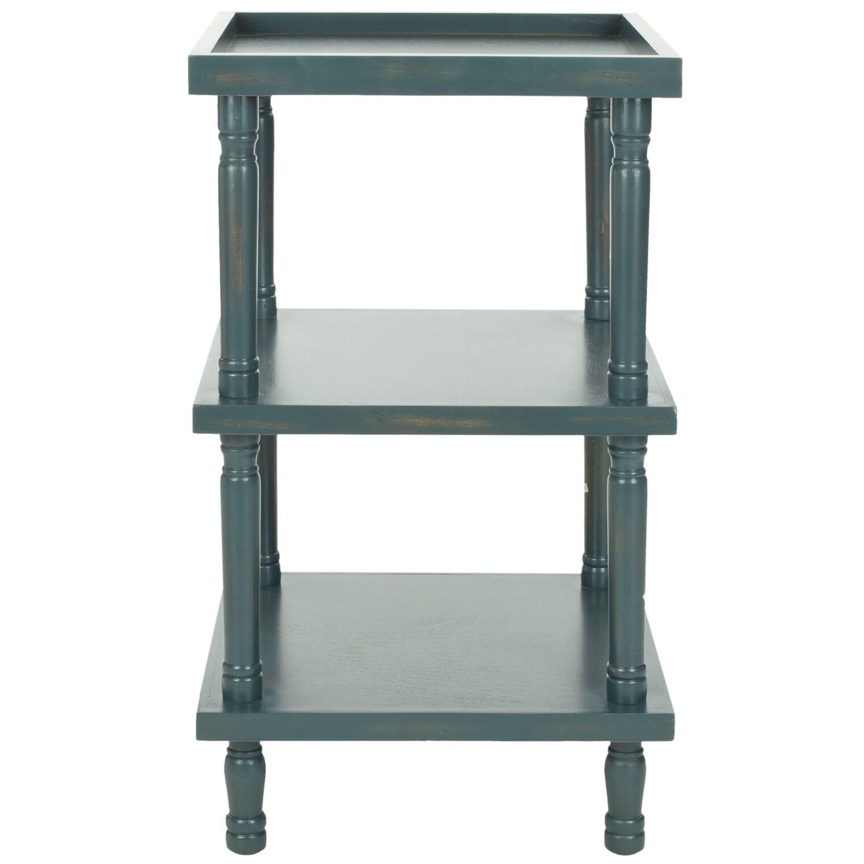Safavieh Esmeralda Steel Teal Side Table - 18.3 x 18.3 x 32.3 (AMH6602C)