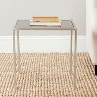 Safavieh Kiley Silver/Black Glass Top Accent Table