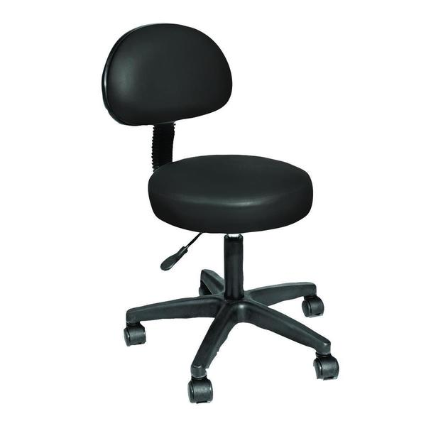 Shop Nrg Rolling Stool With Removable Back Rest Free