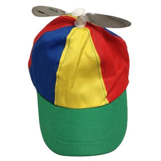 Adult Multi-Color Propeller Helicopter Hat