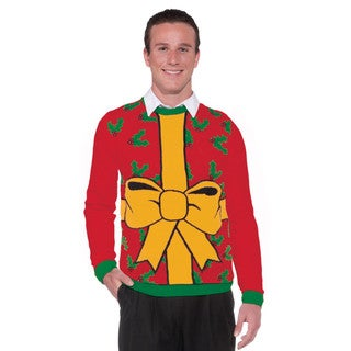 Adult Gift Wrapped Design Ugly Christmas Sweater