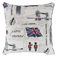 """Sherry Kline """"I Love London"""" Down Filled 22-inch Throw Pillow"""